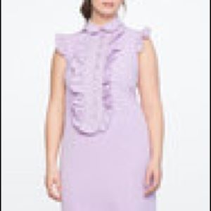 Eloquii Ruffle Bib Dress